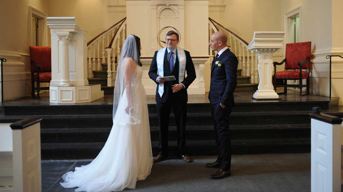 Church Wedding in New York City Officiated by Bradley