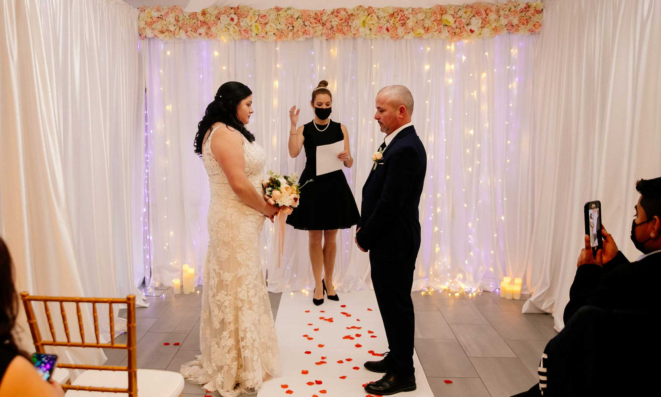 Wedding ceremony in Love Chapel, Upper West Side